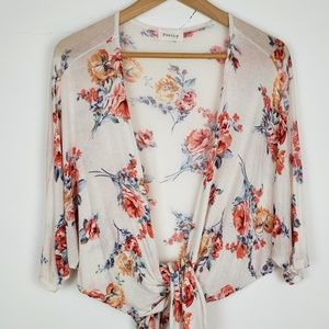 Poetry Boho Floral Wrap Top